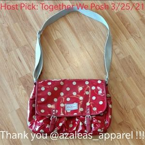 🎉HP🎉VGUC Cath Kidston red polkadot messenger bag